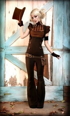 Cute, Simple Steampunk Outfit