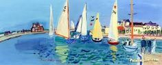 Image result for regatta at deauville raoul dufy