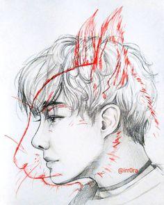 На данном изображении может находиться: 1 человек, рисунок Kpop Drawings, Hoseok Bts, Jimin, Bts Chibi, Bts Fans, Kpop Fanart, Bts Photo, Bts Wallpaper, Art Inspo