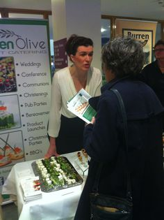 Jacinta of @Green Olive Catering closing the deal! #tff13 The Foodie Forum 2013 @greenolivefood