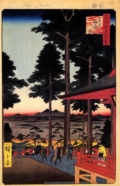 The Inari Shrine at Oji - - Artist: Hiroshige - Style: Ukiyo-e - Series: One Hundred Famous Views of Edo - (Genre: genre painting)