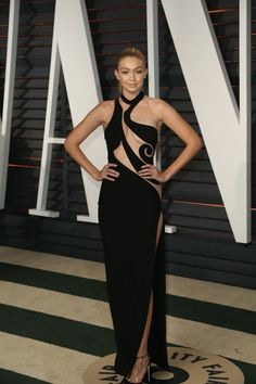 2015 Academy Awards Afterparties Gigi Hadid attends the 2015 Vanity Fair Oscar Party at Wallis Annenberg Center for the Performing Arts in Beverly Hills, Calif., on Feb. 22, 2015.