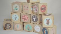 Tribal Theme Blocks.Baby Blocks. Boho Chic.Coral/Mint/Turquoise/Brown/Tan. Feather/Arrow. Wood Toy.Baby Shower Gift.Nursery Decor. Bright by WoodUBMine15 on Etsy https://www.etsy.com/listing/255224283/tribal-theme-blocksbaby-blocks-boho