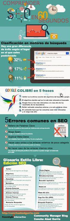 #Infografia Comprender #SEO en 60 seg. es posible? by @Concha Marín Vila Abad Gurria
