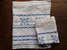 2 White Window Valances Vintage Linens Cotton Made by LesLadies, $33.00