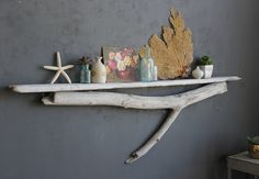 Natural Driftwood Shelf Perfect Mantle // Size by OceanSwept