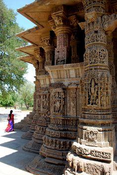 Surya Mandir (Sun Hindu Temple) dedicated to the Hindu Sun God-Surya, Modhera, Gujarat, India ॐ