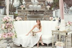 Pink and white wedding flowers, decor and furniture with mirrored tables for a European-inspired wedding! THE WANDERESS: MODERN EUROPEAN WEDDING INSPIRATION www.elegantwedding.ca