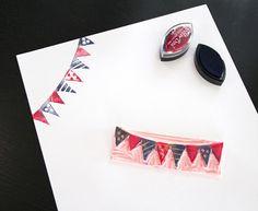 Handmade rubber stamp via Parafernaliablog