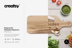 Engraved Wooden Board 2 Mockup - Product Mockups