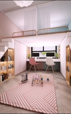 Bedroom Decor For Small Rooms, Room Ideas Bedroom, Space Saving Bedroom, Small Girls Bedrooms, Tiny Bedrooms, Small House Interior Design, Home Room Design, Kids Bedroom Designs, House Rooms