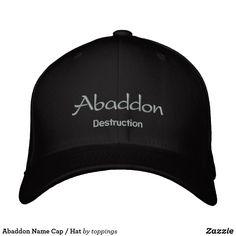 Abaddon Name Cap / Hat