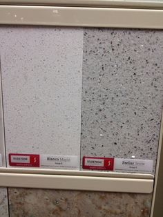 "Silestone colors - I like the gray one on the right ""stellar snow"""
