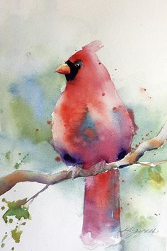 Red Painting - Cardinal by Yvonne Joyner