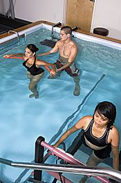 Aquatic therapy is appropriate for a variety of diagnoses including arthritis, chronic pain conditions, post-operative pain and weakness, neuropathy, neurological disorders, orthopedic and sport injuries, gait and balance deficits and pregnancy.