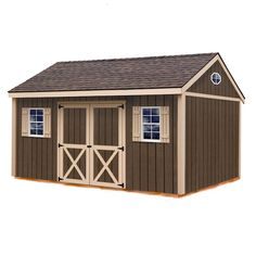 Wood Shed Kits, Diy Shed Kits, Storage Shed Kits, Wood Storage Sheds, Outdoor Storage Sheds, Wooden Sheds, Outdoor Sheds, Built In Storage, Wood Shed Plans