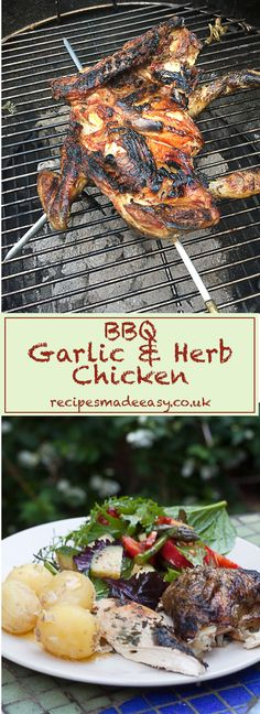 BBQ Spatchcock Garlic and Herb Chicken by Recipes Made Easy – Light up the barbecue and cook delicious easy recipes outside. via @jacdotbee