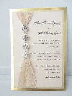 Lace Invitation Wedding Invite Lace Wedding por LavenderPaperie1