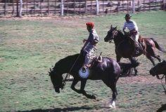 Jineteada en La Pampa