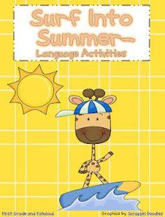 Free!! Surf into Summer!! Language activities!
