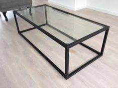 Salontafel 13 vierkant ruw hout met glas huis algemeen pinterest
