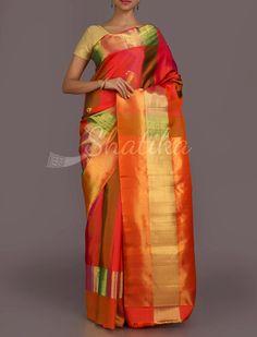 Srimati Stripes Of Splendor #RealZari #DharmavaramSilkSaree