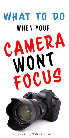 A frustrating problem for beginner photography students, when their camera wont focus. What do you need to do when your camera wont focus? Read these 6 reasons why your camera wont focus and start with the basics. Beginner photography tips to help you ge Dslr Photography Tips, Photography Tips For Beginners, Photography Lessons, Photography Courses, Professional Photography, Photography Tutorials, Digital Photography, Photography Backdrops, Photography Business