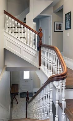 The staircase and newel post are the only original things left in the home, which was otherwise gutted. Photo by Chris Mikula, The Ottawa Citizen.
