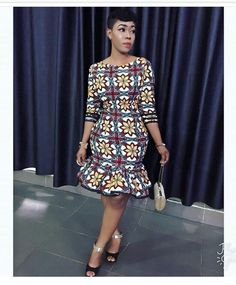 Online Hub For Fashion Beauty And Health: Stylishly Elegant Ankara Short Gown Dress For The . African Dresses For Women, African Print Dresses, African Fashion Dresses, African Attire, Ankara Fashion, Modern African Dresses, African Women, Ankara Short Gown Dresses, Ankara Dress Styles
