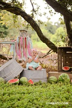 Summer Baby Photos, Summer Pictures, Old Pictures, Baby Pictures, Outdoor Photo Props, Outdoor Photos, Watermelon Photo Shoots, Summer Photography, Photography Ideas