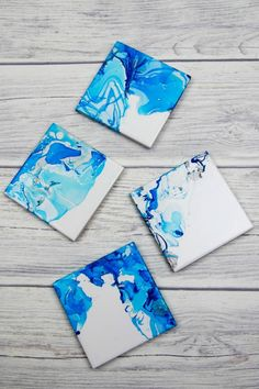 Nail Varnished Marble Coasters - How to make Nail Varnish Marbled Coasters. These beautiful marbled coasters are beautiful as so simple to make.  A great homemade gift and DIY craft