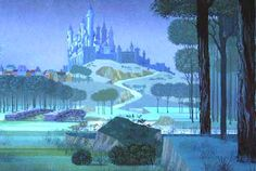 Eyvind Earle, Sleeping Beauty castle