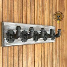 Industrial Rustic Modern Handmade Pipe Rack Pipe Towel | Etsy Rustic Toilet Paper Holders, Bathroom Toilet Paper Holders, Towel Rack Bathroom, Towel Hooks, Bathroom Sets, Towel Storage, Ring Storage, Coat Hooks, Kitchen Towels