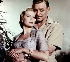 Clark Gable and Grace Kelly, Mogambo