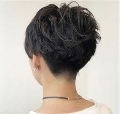 Undercut Wavy Pixie for Thick Hair hair wavy 60 Classy Short Haircuts and Hairstyles for Thick Hair Thick Hair Pixie, Short Hairstyles For Thick Hair, Short Pixie Haircuts, Short Hair Cuts For Women, Curly Hair Styles, Short Wavy Pixie, Style Short Hair Pixie, Pixies For Thick Hair, Thick Haircuts
