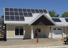 Exterior of a nearly completed Eco Village 2 bedroom home. - Habitat for Humanity
