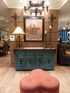 I love this Turquoise Cross Buffet!