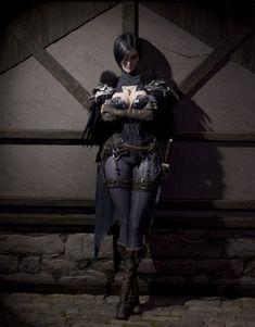 f Rogue Assassin Light Armor Cloak Dagger female urban City street Night by Areum Kim med Fantasy Warrior, Fantasy Rpg, Medieval Fantasy, Dark Fantasy Art, Fantasy Artwork, Dnd Characters, Fantasy Characters, Female Characters, Fantasy Art Women