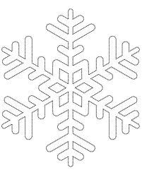 free snowflake template - Google Search