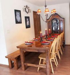 Dining room table.. living-space