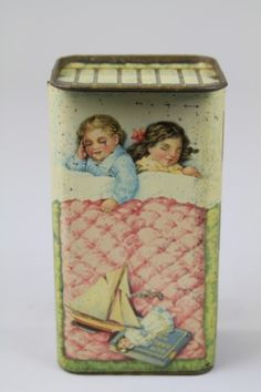 Gray Dunn & Co, 'Our Darlings' biscuit tin   They could be Snow White and Rose Red so I am pinning this!