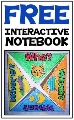 FREE interactive notebook activities for reading comprehension - great for Kindergarten & First Grade!
