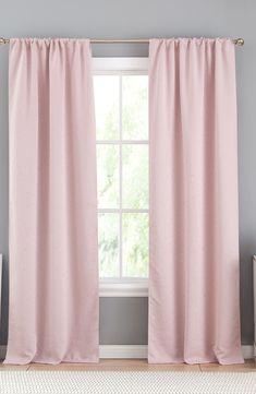 Pink glitter window drapes