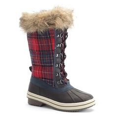 Totes Gina Womens Brown Red Plaid Warm Lined Lace up Winter Snow Boots (6 M) Totes http://www.amazon.com/dp/B009RUYOB0/ref=cm_sw_r_pi_dp_wjFJvb02M17F7