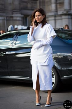 Like a fashion editor: winter white outfit