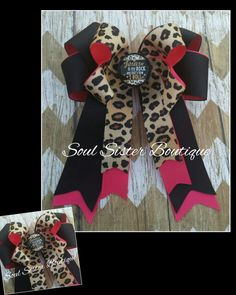 """4 loop tails down hair bow """"Jesus is my rock and that's how I roll"""" only at www.facebook.com/soulsisterboutique"""