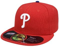 MLB Philadelphia Phillies Game AC On Field 59Fifty Fitted Cap-712  http://allstarsportsfan.com/product/mlb-philadelphia-phillies-game-ac-on-field-59fifty-fitted-cap-712/  100% Polyester Performance Fabric Official On Field Cap worn by all Major League Players Cool Base technology wicks moisture