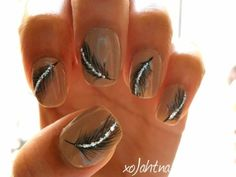 Feather nail designs!