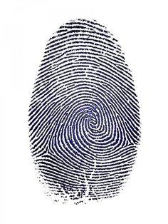 Blue Puddle Finger Print