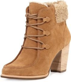 UGG Analise Lace-Up Ankle Bootie, Chestnut